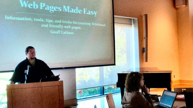 Me giving a presentation at the MAEA Fall Conference